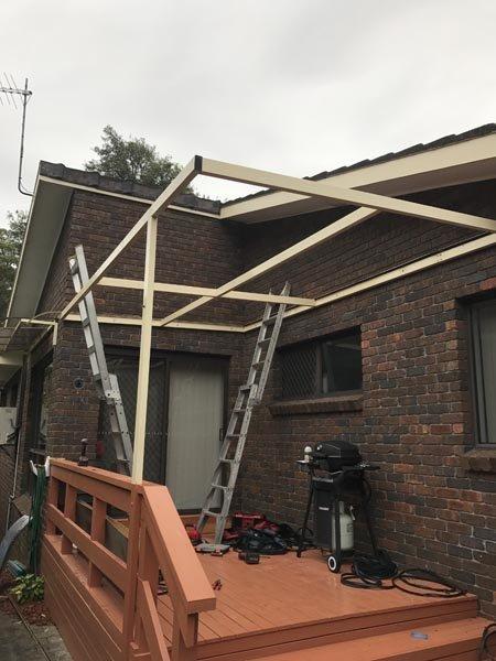 Sky light roof installation work