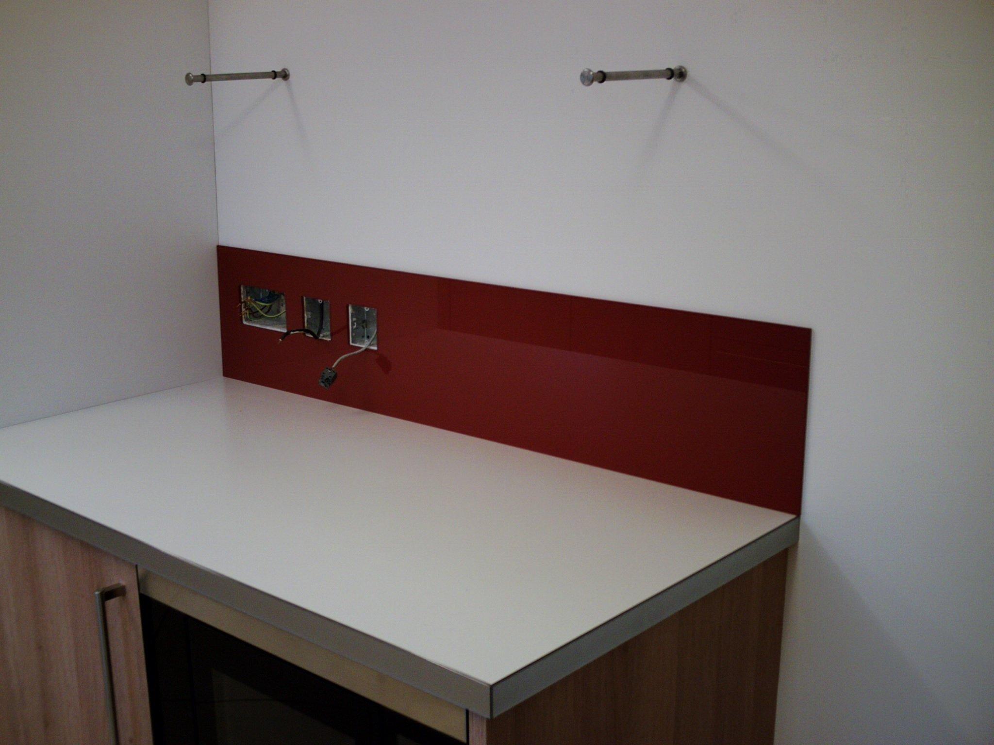 Kitchen glass worktops