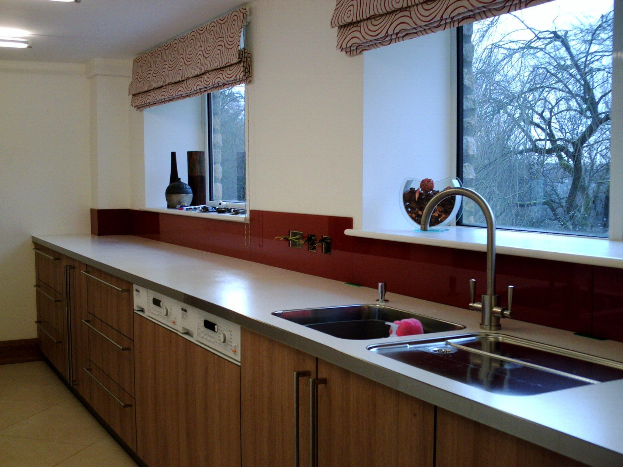 Kitchen glass installation work