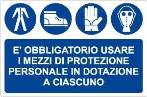 Obbligo_è obbligatorio usare i mezzi di protezione personale