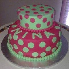 torta con copertura zucchero colorato
