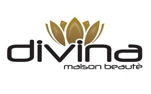 Un logo con scritto Divina Maison beaute'