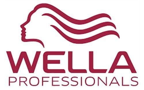 logo Wella professional con la sagoma rossa di  una testa di una donna con capelli lunghi