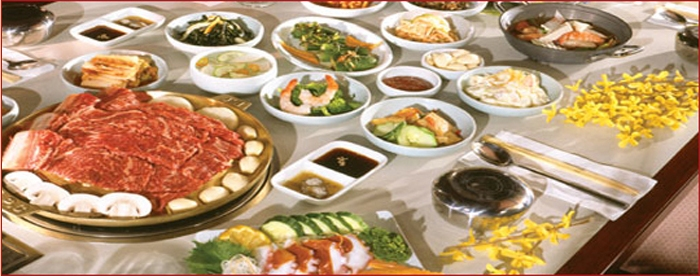 various dishes at a Korean restaurant in Kihei, HI