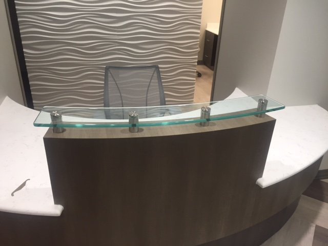 glass for desk in benton