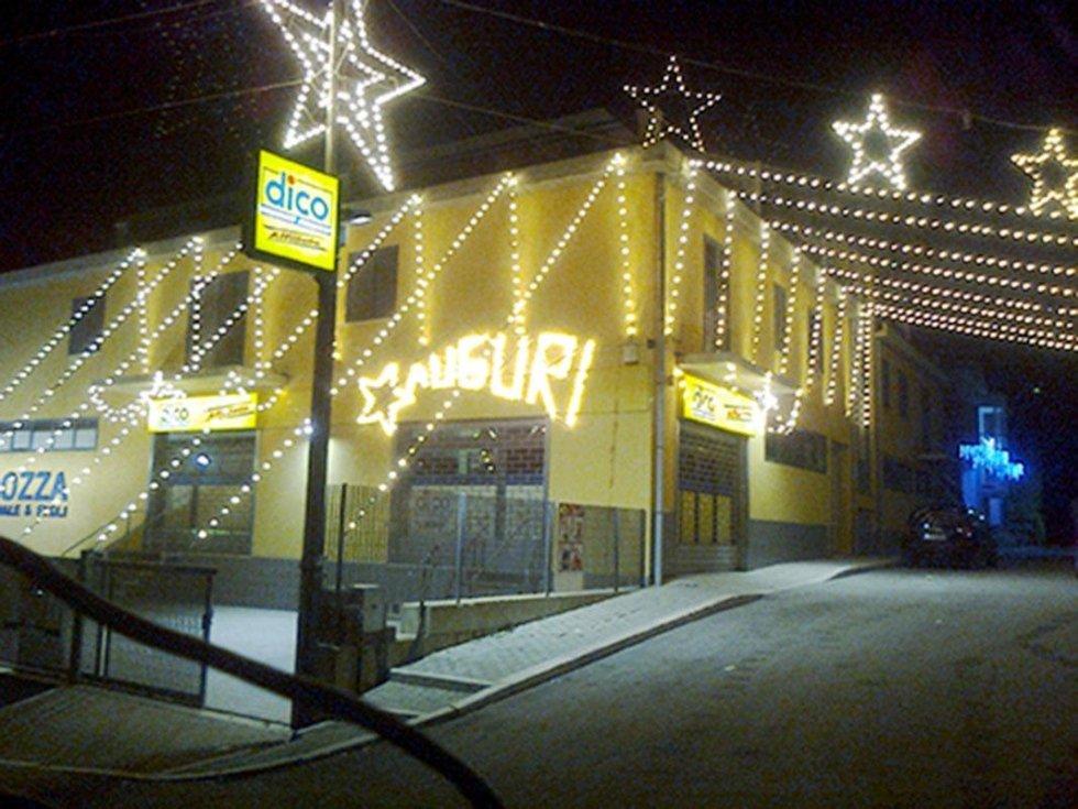 Luminarie addobbi natalizi