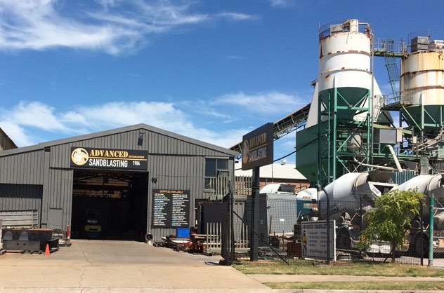 well equipped sandblasting factory in NSW
