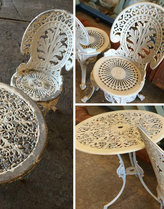 improved garden furniture with sandblasting