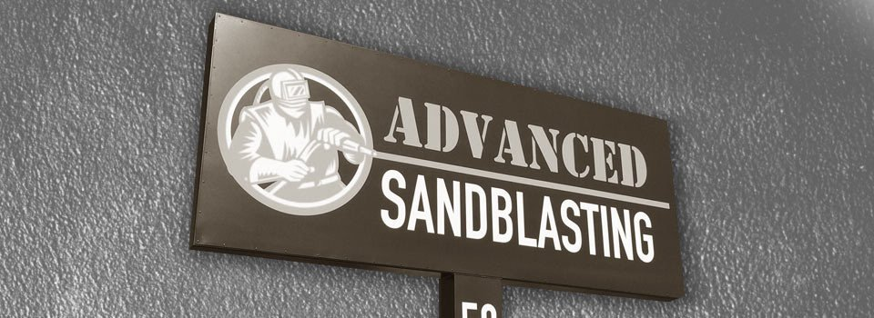 equipped blast room at advanced sandblasting