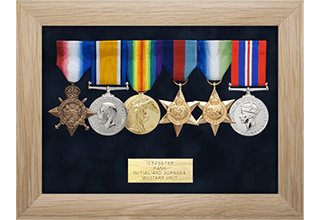 Framed Medals from kings lynn picture framing
