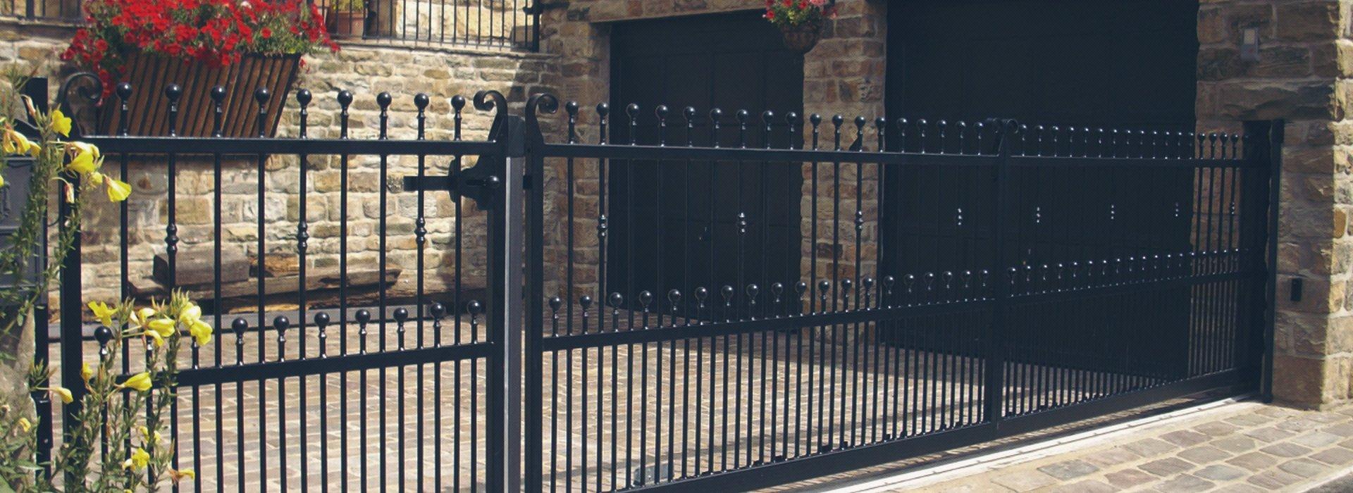 black coloured gate