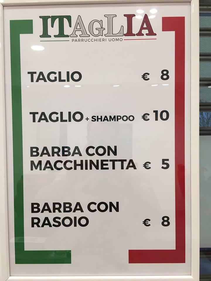 listino prezzi ITAGLIA