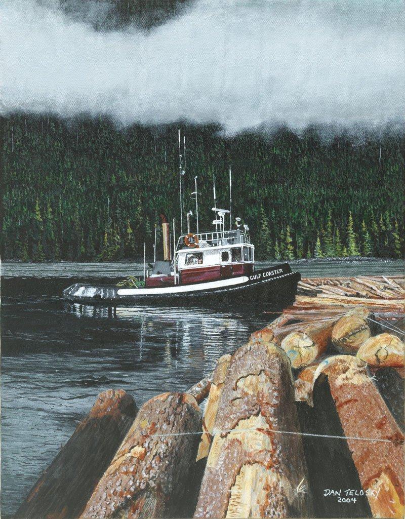 Gulf Coaster by Dan Telosky - Marine Artist