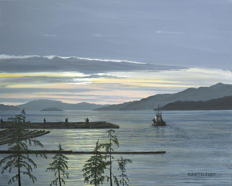 Night Shift by Dan Telosky - Marine Artist