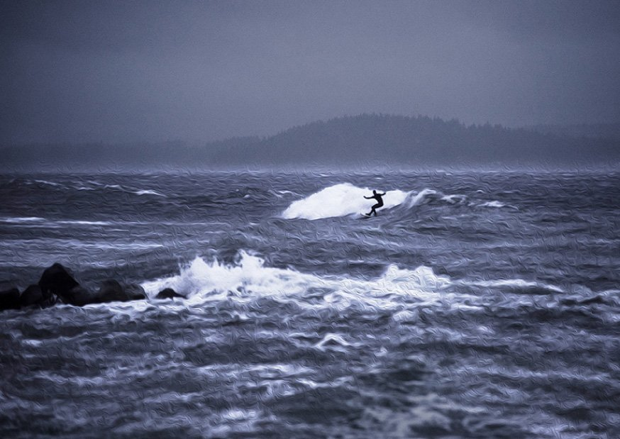 PNW Cold Water by James Headrick - Still in Motion