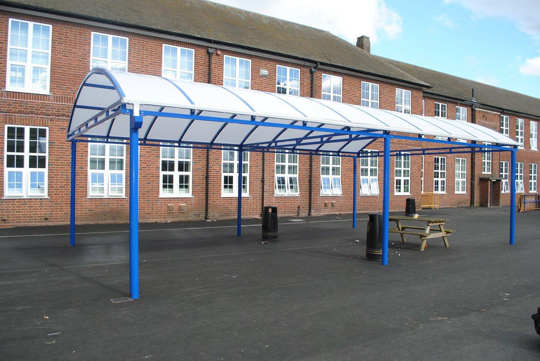 commercial building entrance shelter