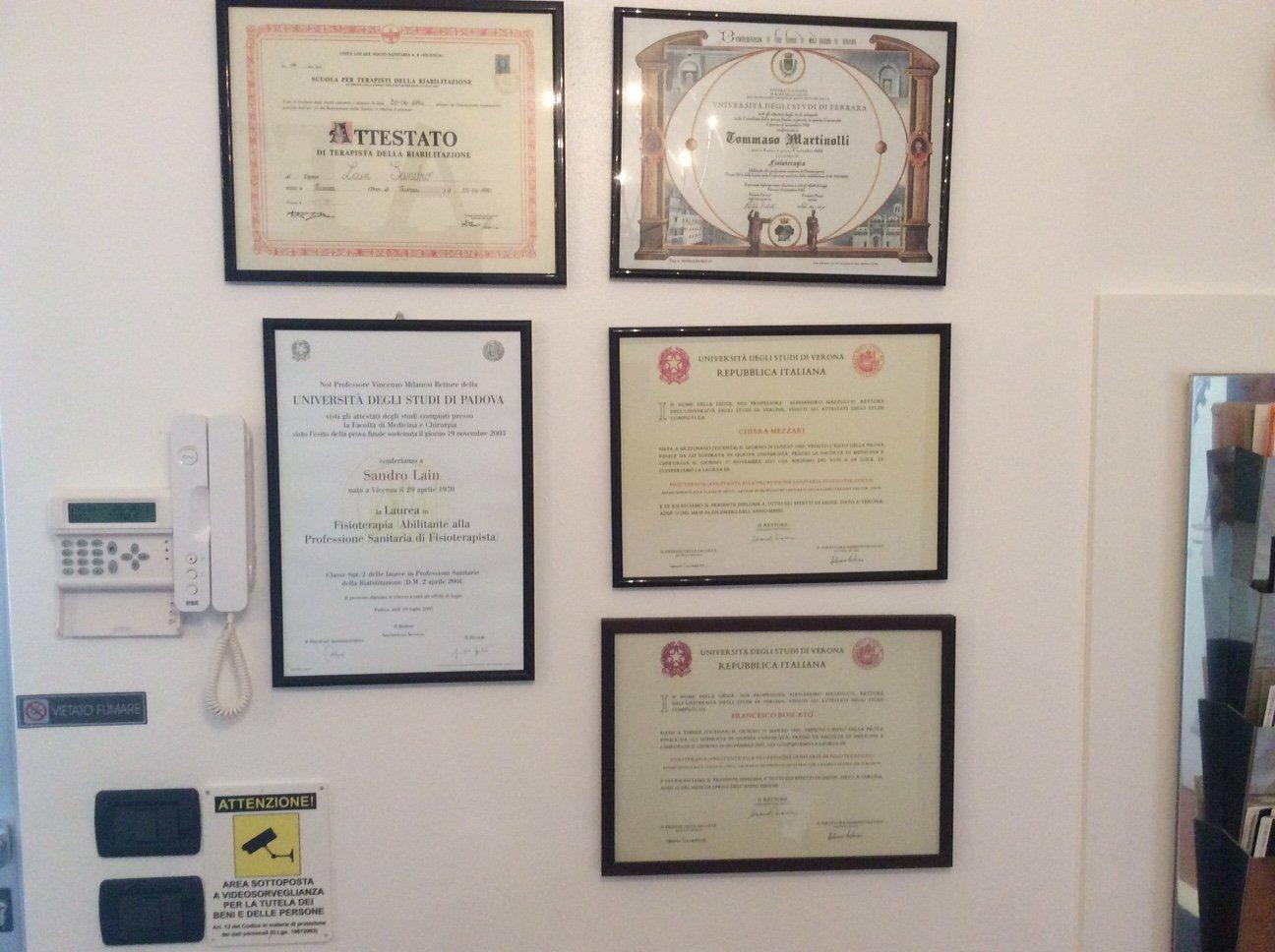 certificati e attestati osteopatia e fisioterapia