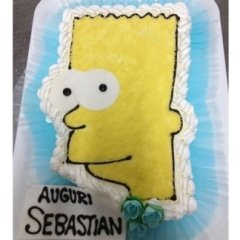 torta decorata con simpson
