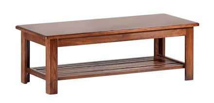 Hardwood Coffee Table. Canadian Made! Hand assembled, hand stained. Perfect complement to your Futon frame or End Tables. Standard