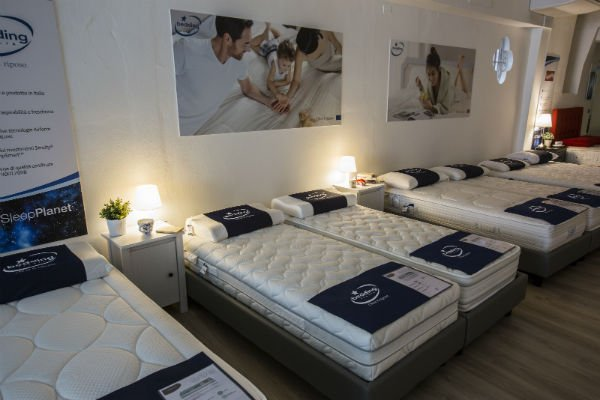interno di  uno showroom Bedding Italia