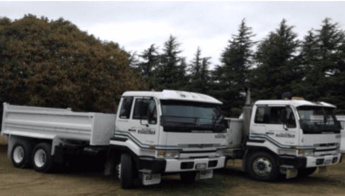 Excavation truck standing in ground