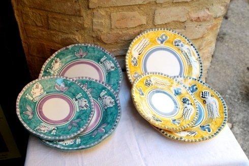 ceramiche per servizi piatti vietri sul mare
