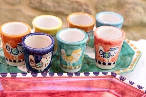 tazzine in ceramica dipinta vietri