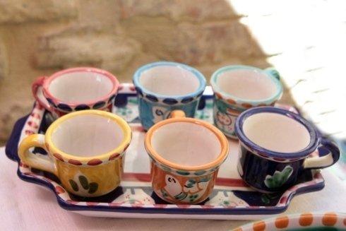 tazzine in ceramica dipinte a mano