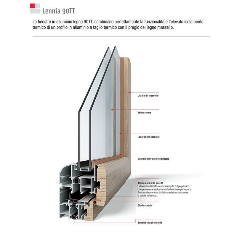 finestra in legno alluminio novara