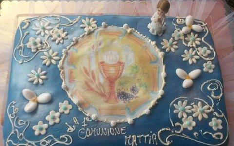 torta comunione bambino