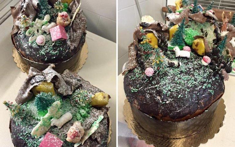 panettoni decorazioni di zucchero