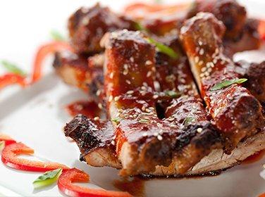 Pork ribs in hunan sauce