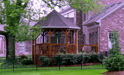 Metal fencing and wooden grilling in Columbia, MO