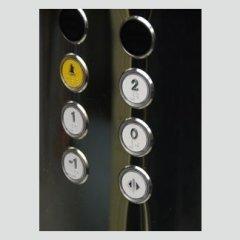 Ascensore - Particolare pulsantiera di cabina in acciaio inox