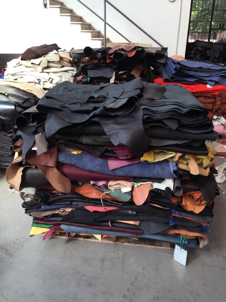 Sale of leather in stock