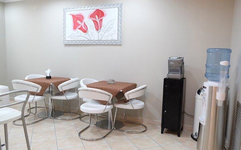 sala d'attesa di un ufficio