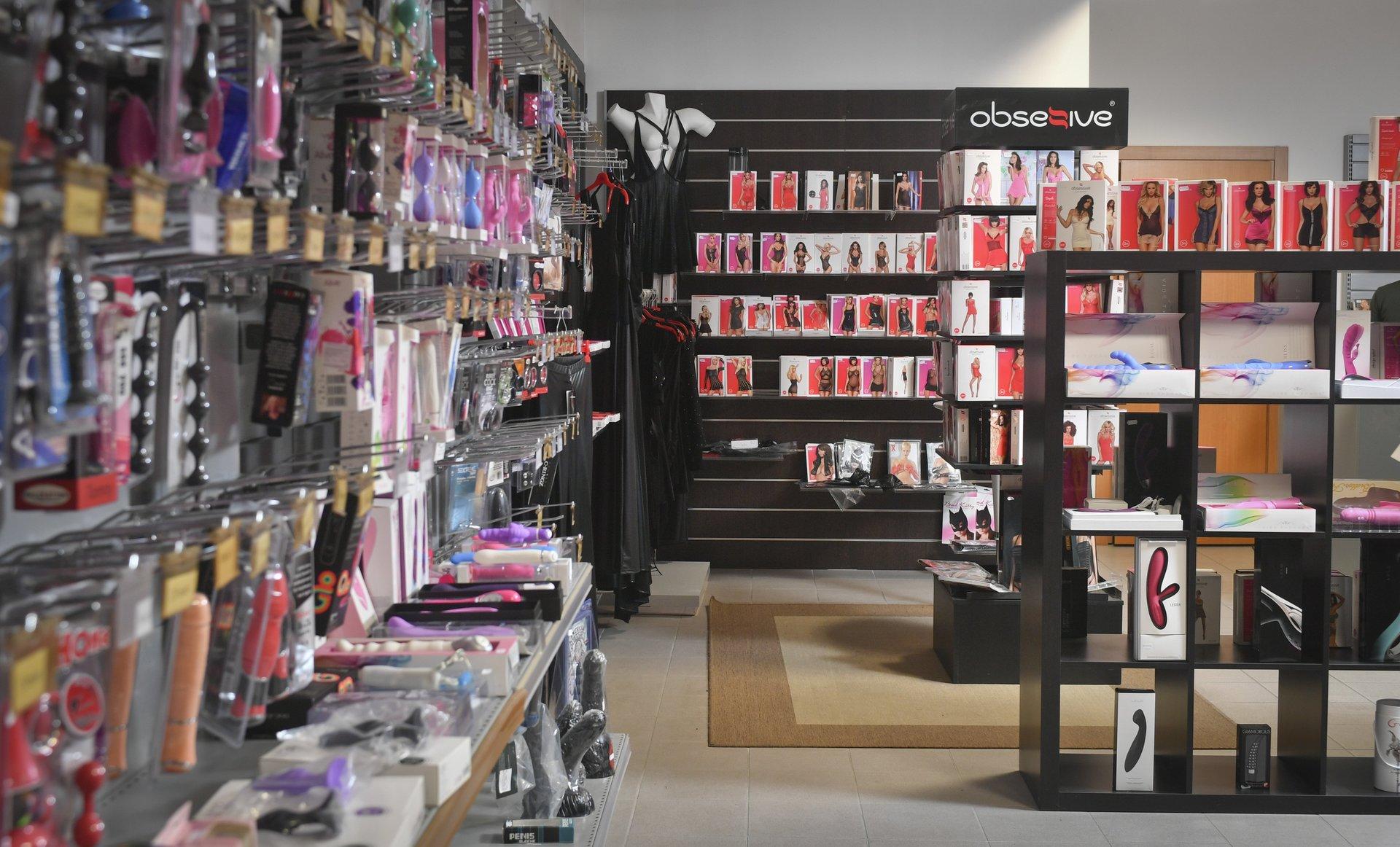 interno di un sexy shop