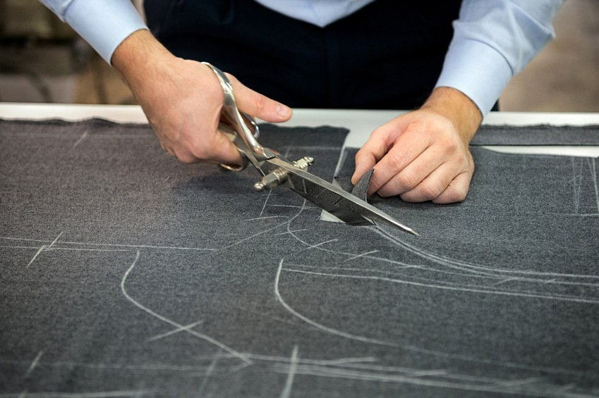 Working on a custom made suit