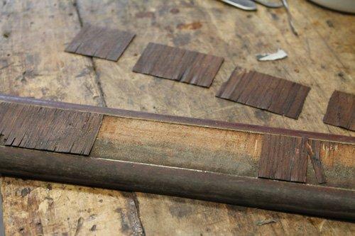 listello in legno da restaurare