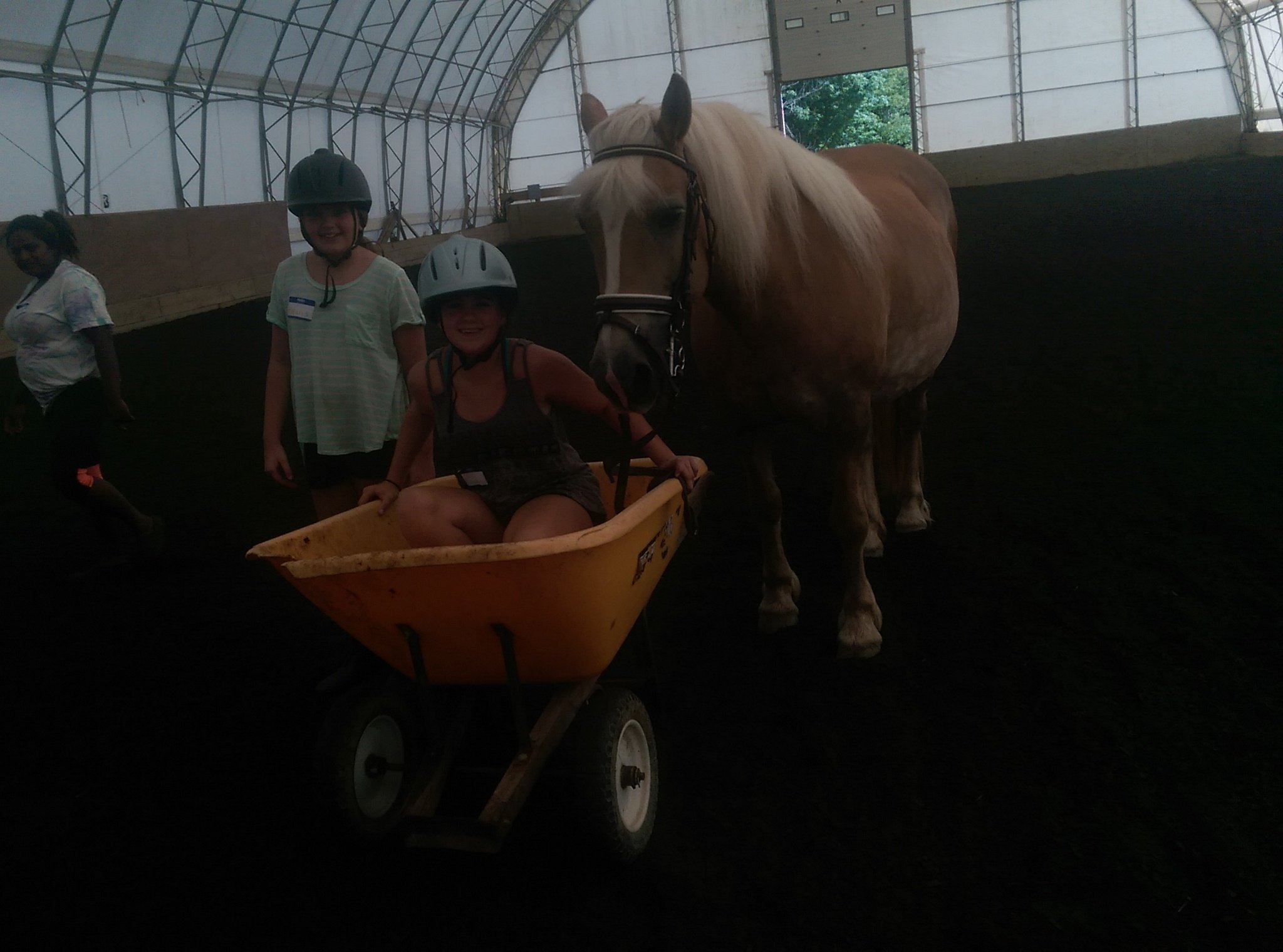 Rosebud Stables Campers play riding games