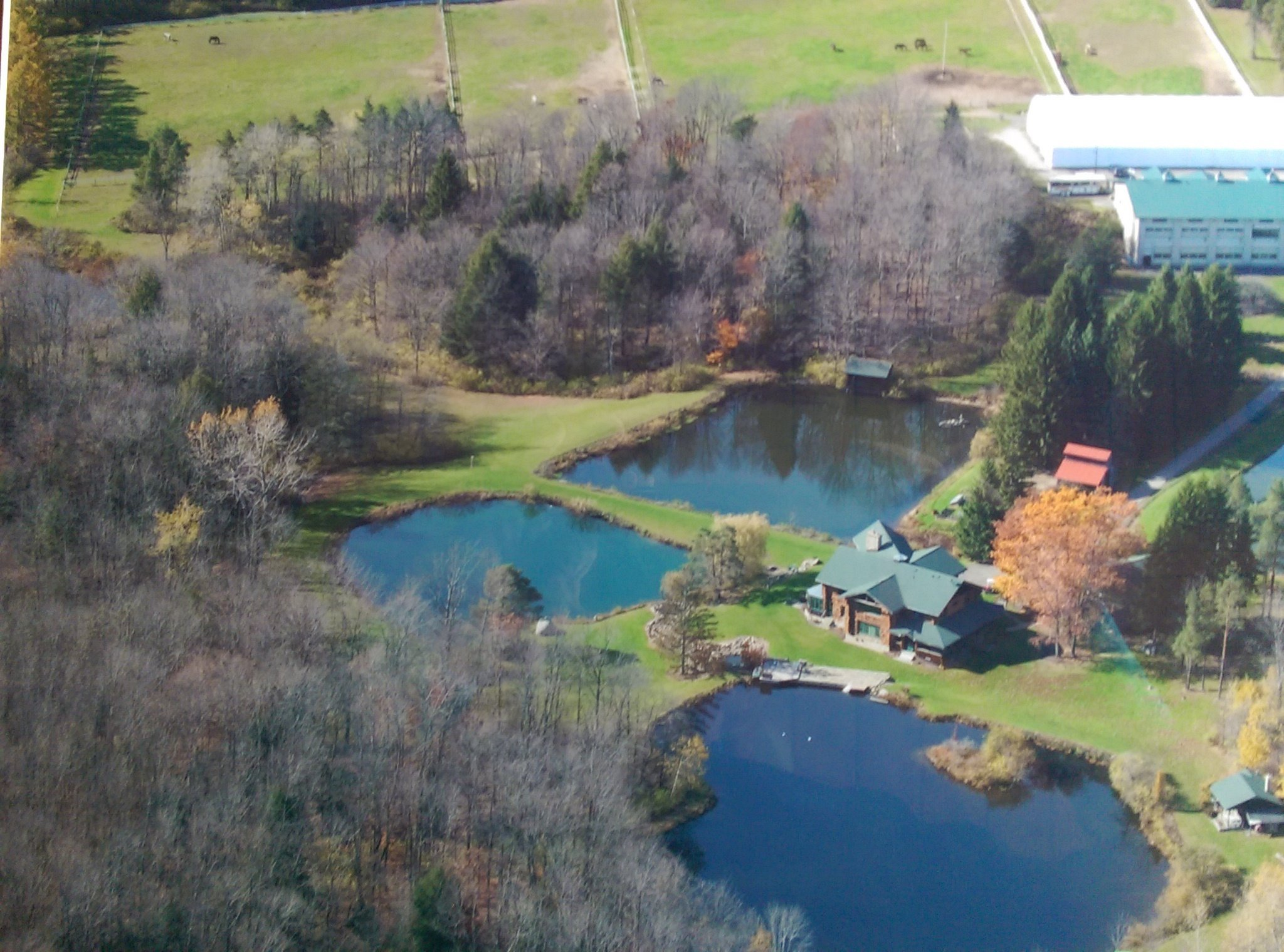 Rosebud Stables Summer Camp Aerial view