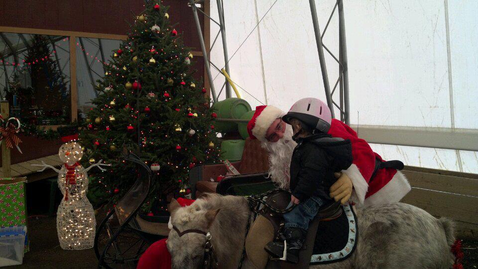 Santa visits Rosebud