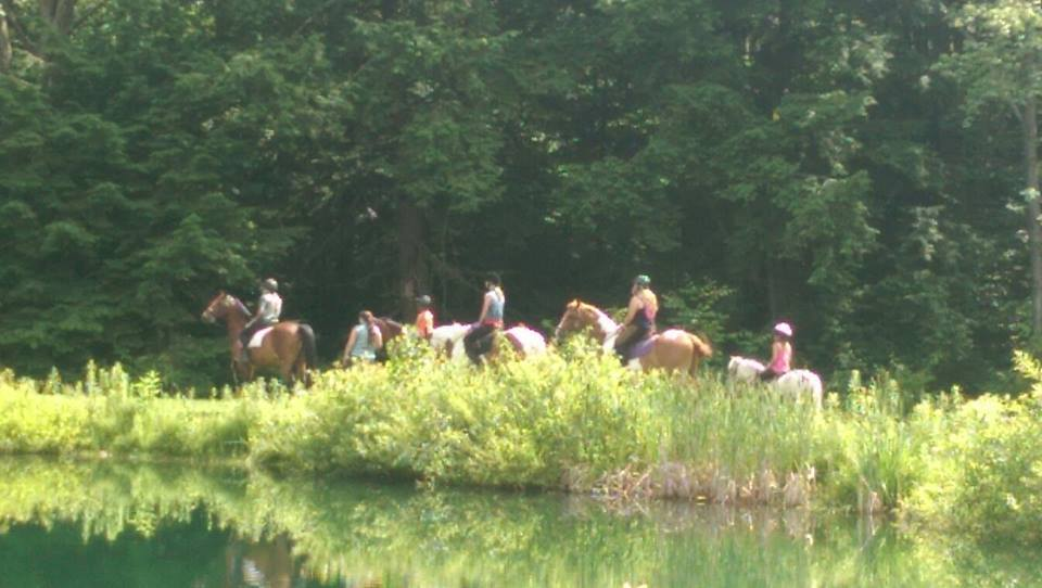 Rosebud Stable Campers ride indoors and outdoors