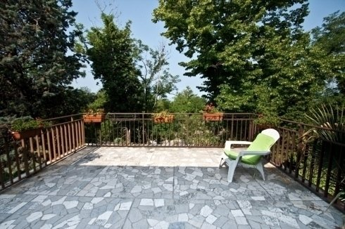 terrace with armchair