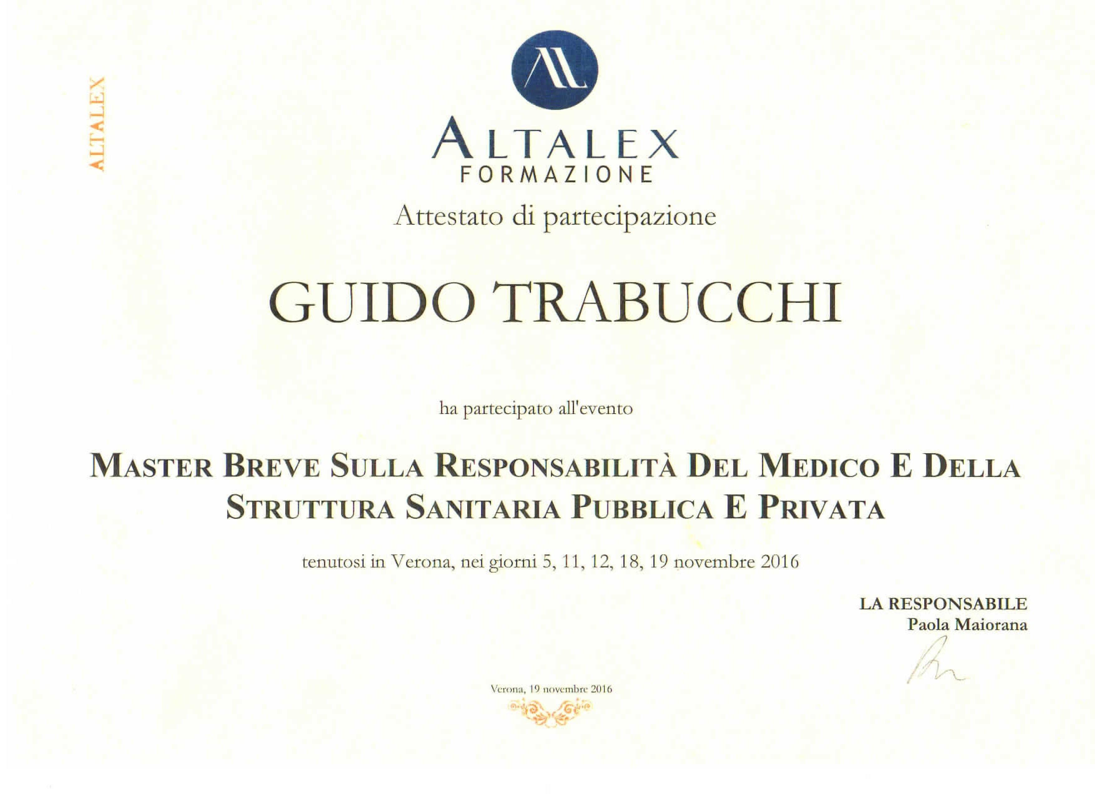 Attestato con logo AltaLex