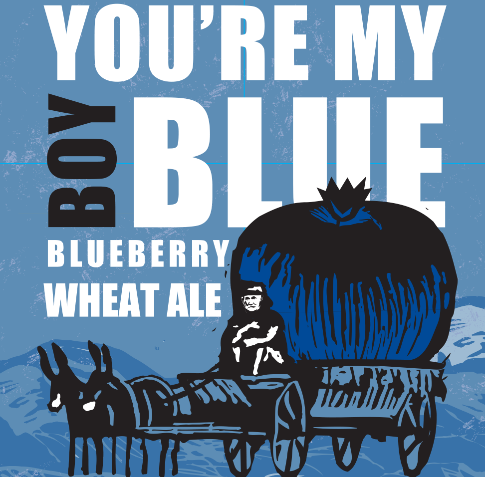 You're My Boy Blue Blueberry Wheat Ale Beer Label