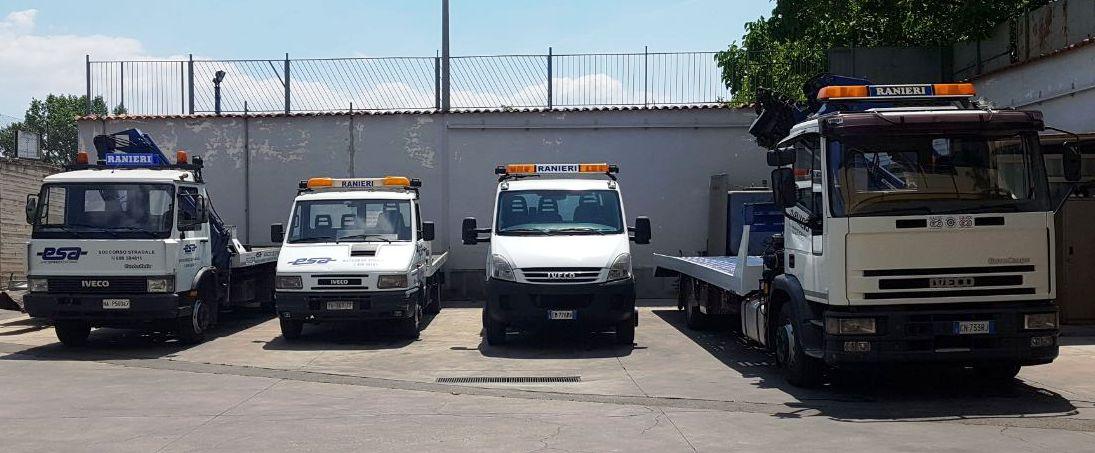 Parco mezzi Autosoccorso Ranieri San Giuseppe Vesuviano