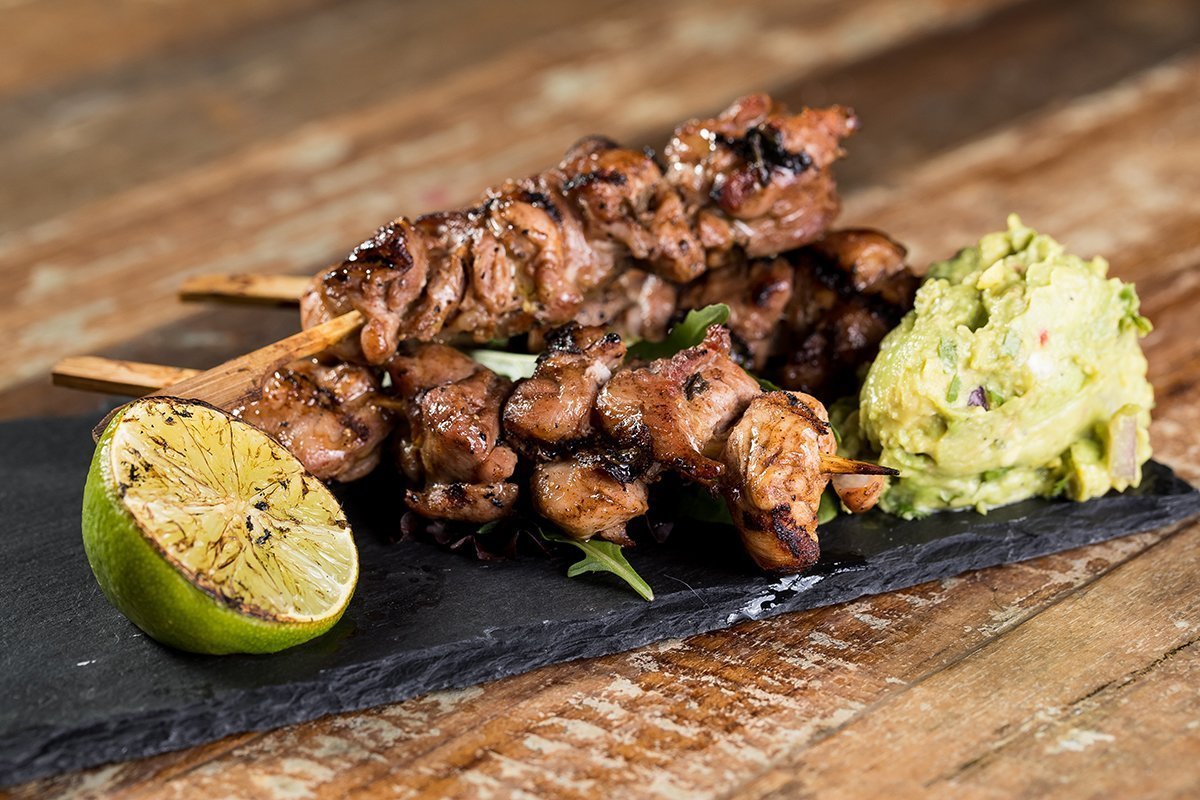 jerk chicken skewers