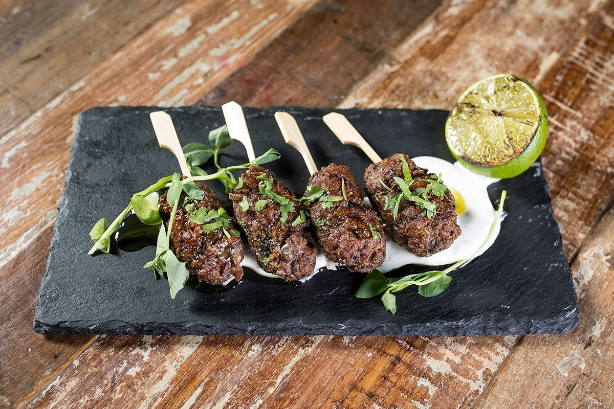 lamb kofta kebab with mint yoghurt