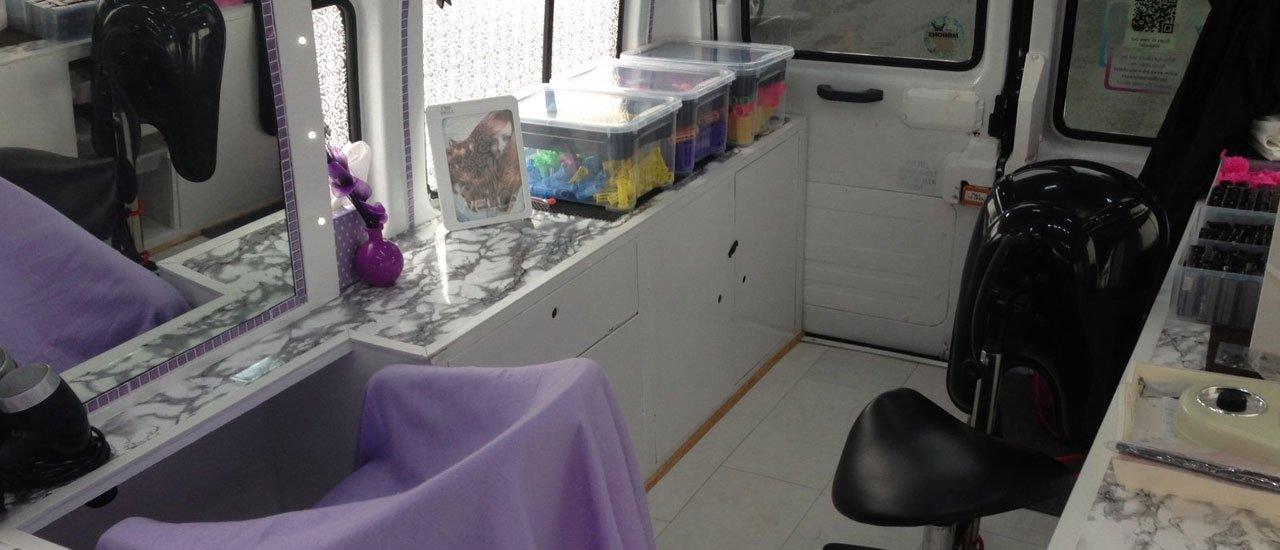 mobile hairdressing salon